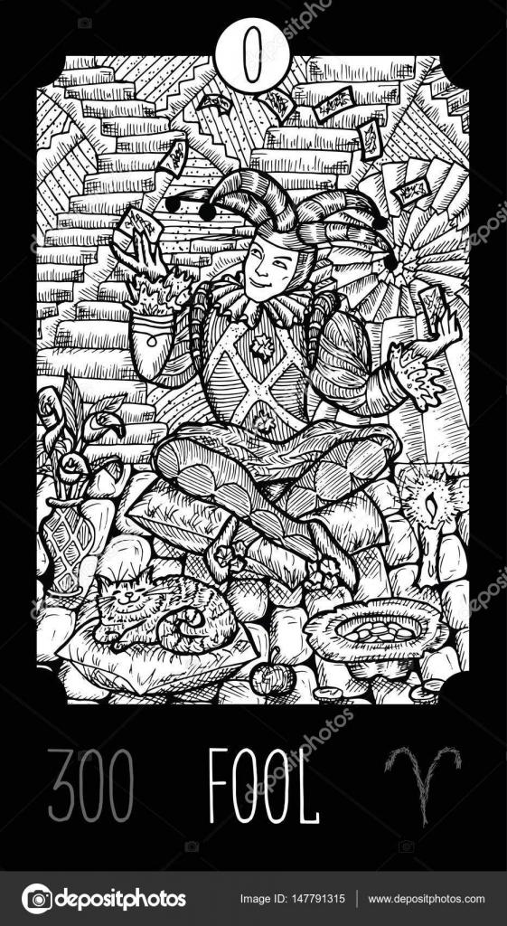 Glupiec Kart Tarota Grafika Wektorowa C Samiramay 147791315