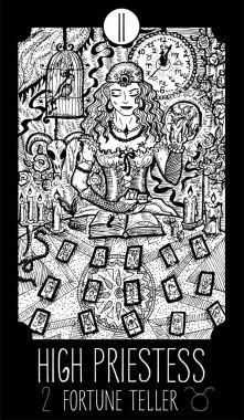 High Priestess. Tarot card