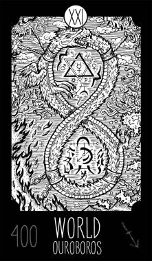 World.Ouroboros. Tarot card Major Arcana