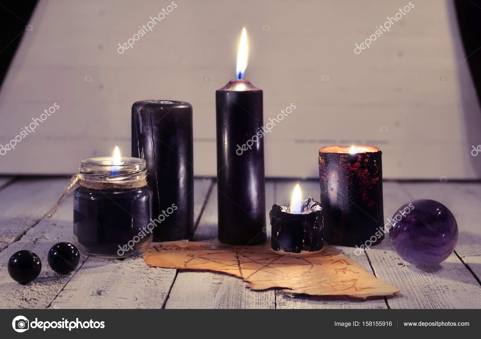 Как сделать черную свечу магия фото 993