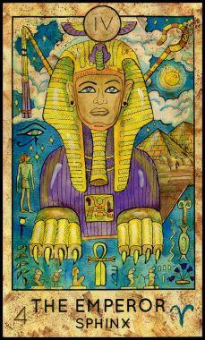 Emperor. Sphinx. Major Arcana Tarot card