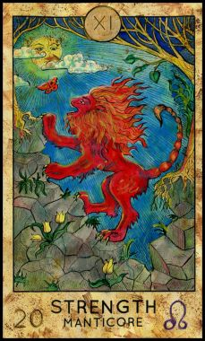Strength. Manticore. Red beast.