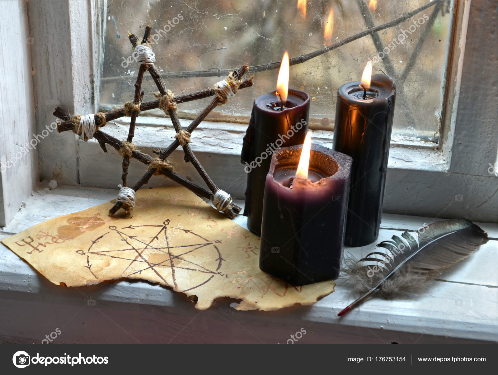 Как сделать черную свечу магия