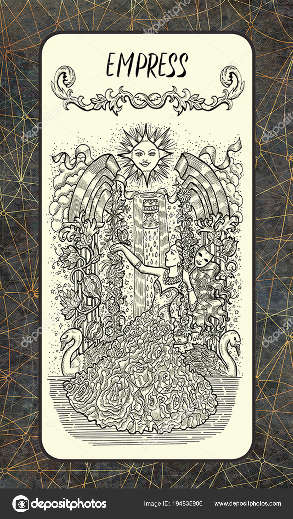 Cesarzowa Karta Tarota Wielkie Arkana Talii Magic Gate Fantasy