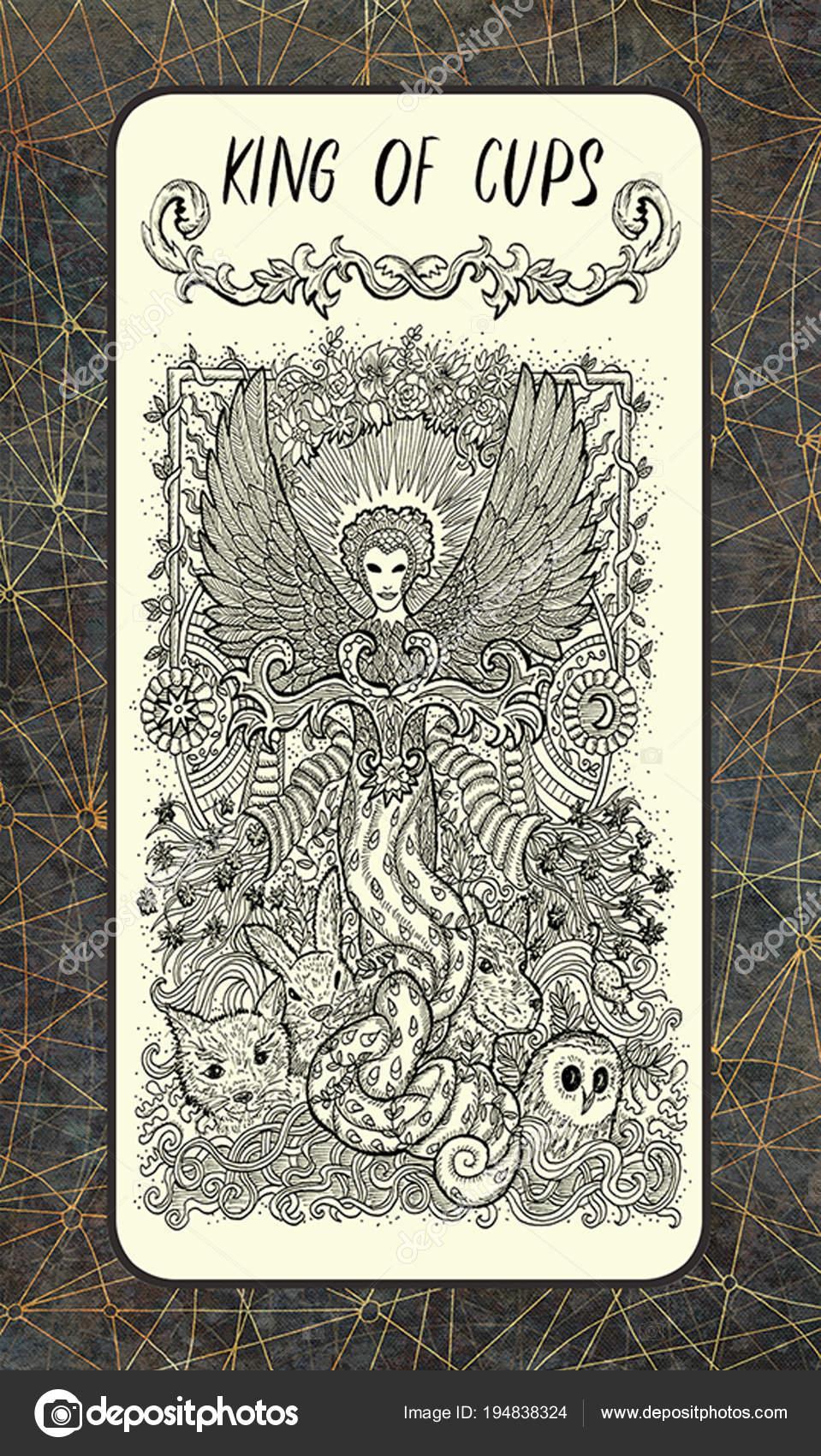 Kral Poharu Male Tarotova Karta Arcana Magic Gate Balicek Fantasy