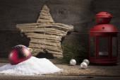 syrová vánoční pohlednice dekorace na přání