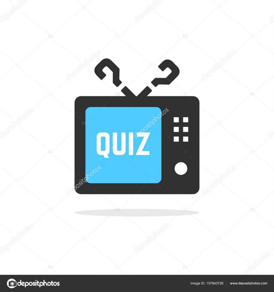 tv quiz button with shadow — Stock Vector © HoldenKolf