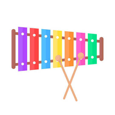 Simple xylophone toy icon