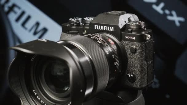 Prezentace Fujifilm X-T4, ilustrativní úvodník. Moskva, Rusko, 2. května 2020.