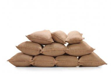 Pile of burlap sacks