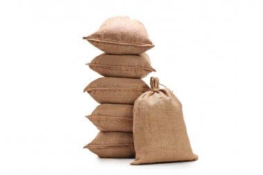 Burlap sacks isolated