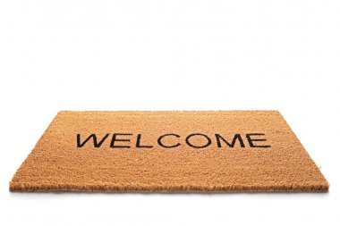 Welcome doormat isolated
