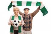 Fényképek Boldog idős foci rajongók