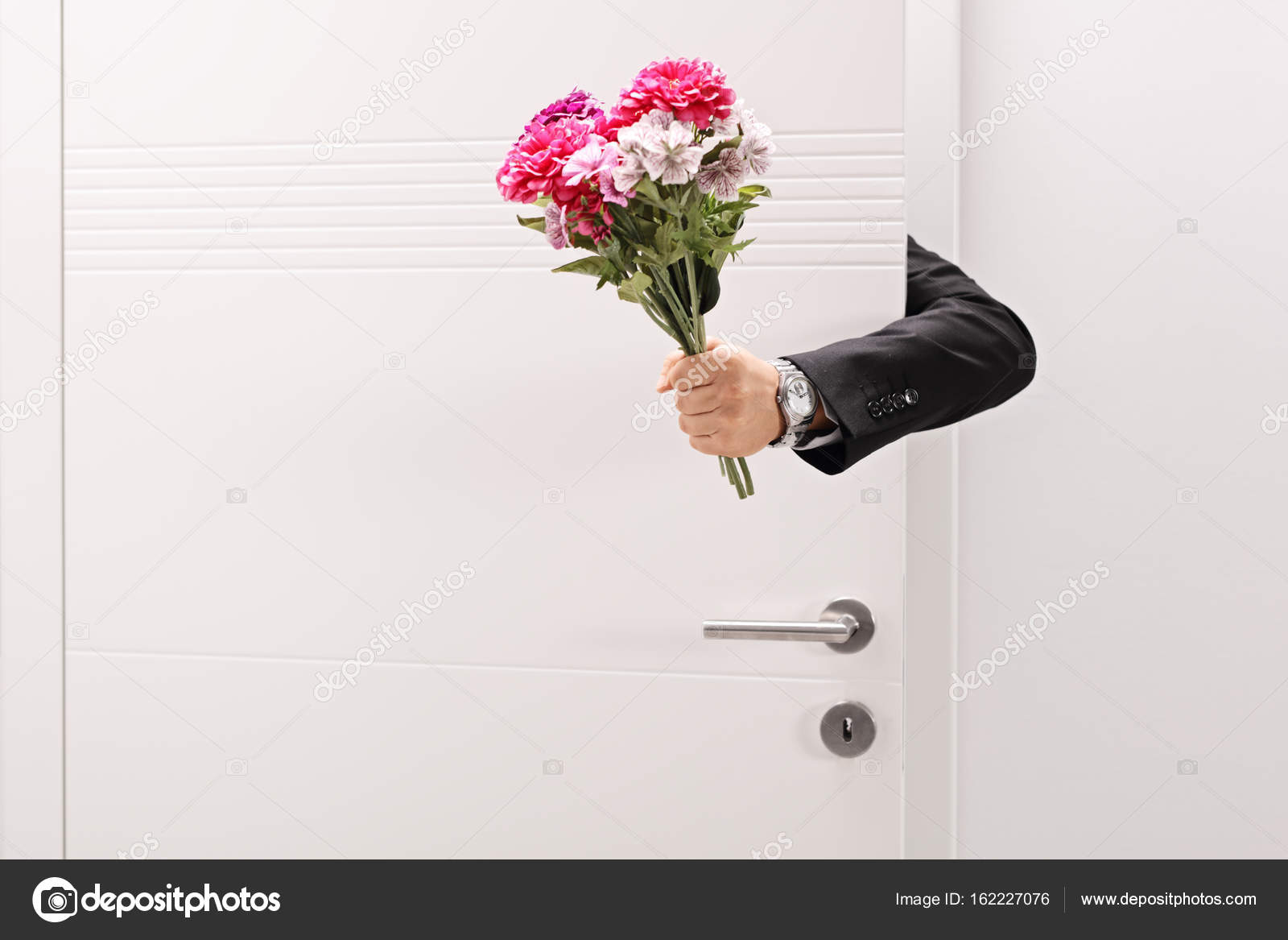 person giving a flower bouquet stock photo ljsphotography 162227076