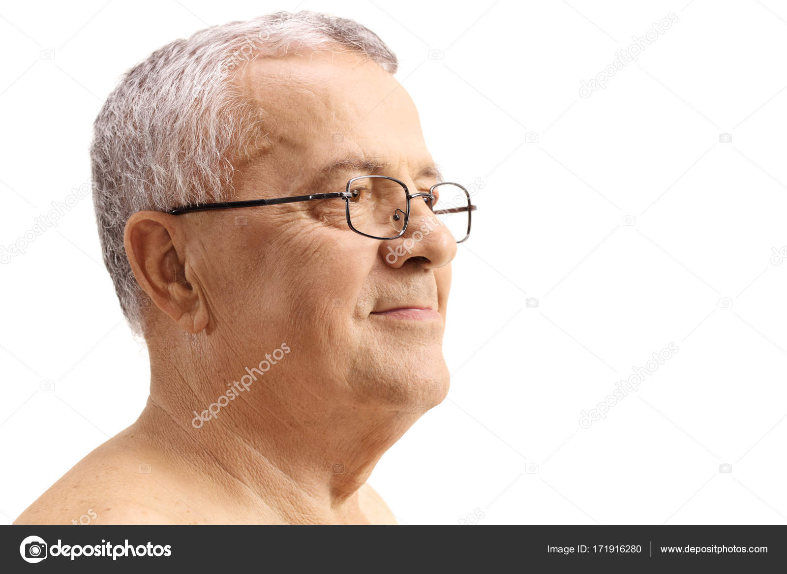Mature glasses facial