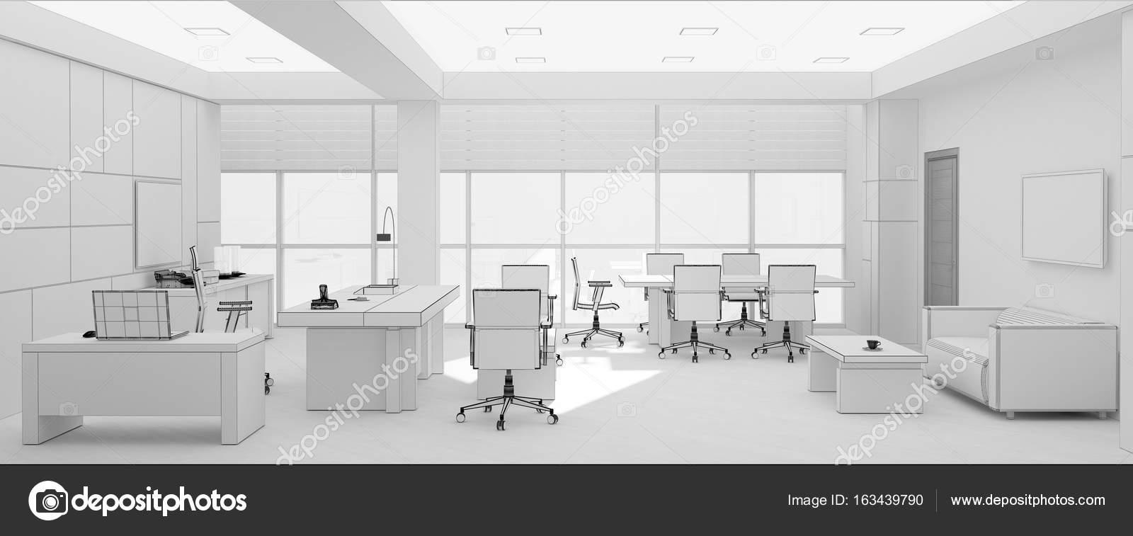 Render 3d Y Vip Oficina Mueble Rejilla Foto De Stock  # Muebles Rejilla