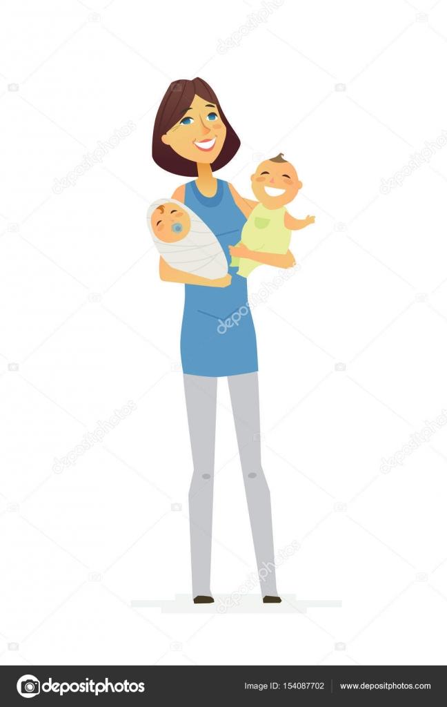 Familie - farbige moderne flache Darstellung Zusammensetzung ...