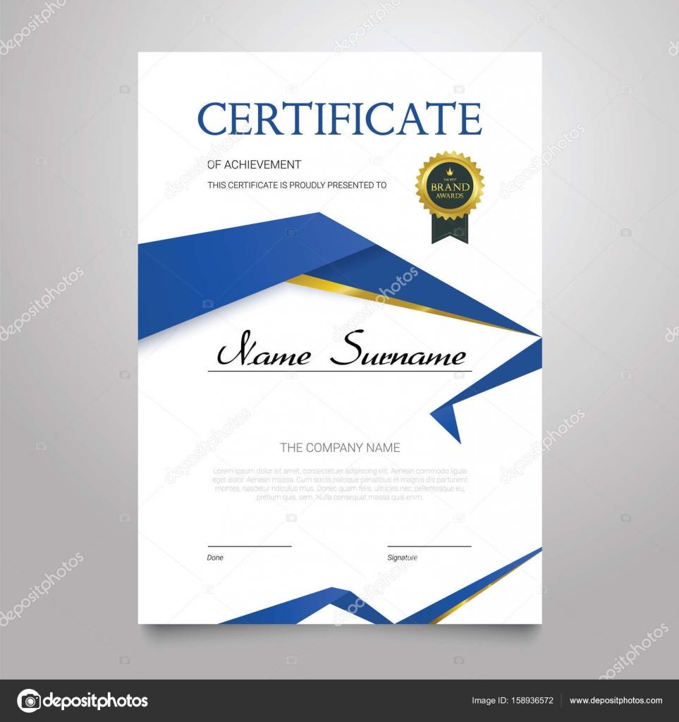 Plantilla de certificado - documento vertical vector elegante ...