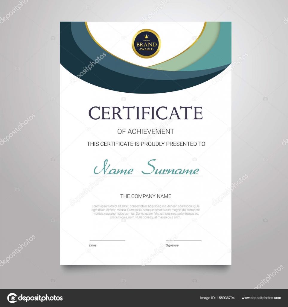 Zertifikat-Vorlage - vertikale elegante Vektor Dokument ...