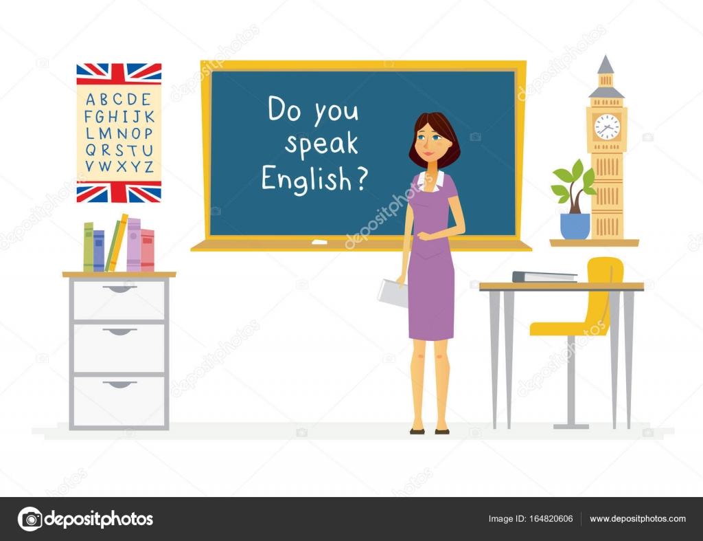 Professeur d'anglais animé Dessin professeur d'anglais