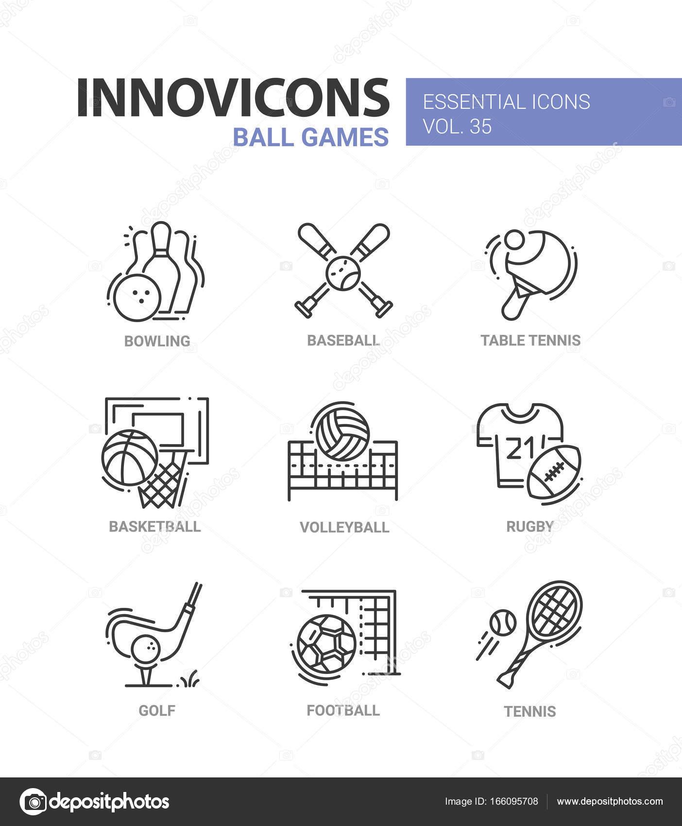 Moderne Spiele spiele moderne vektor line design ikonen stockvektor