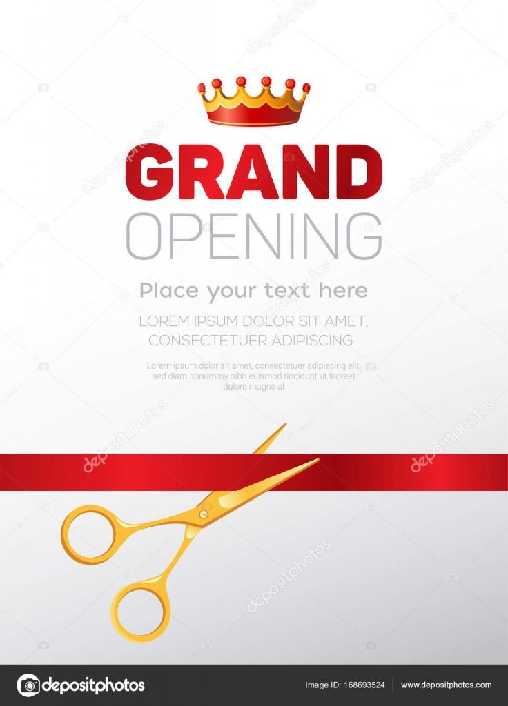 Grand opening template modern vector illustration stock vector grand opening template modern vector illustration stock vector stopboris Images