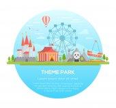 Theme park - modern vector illustration