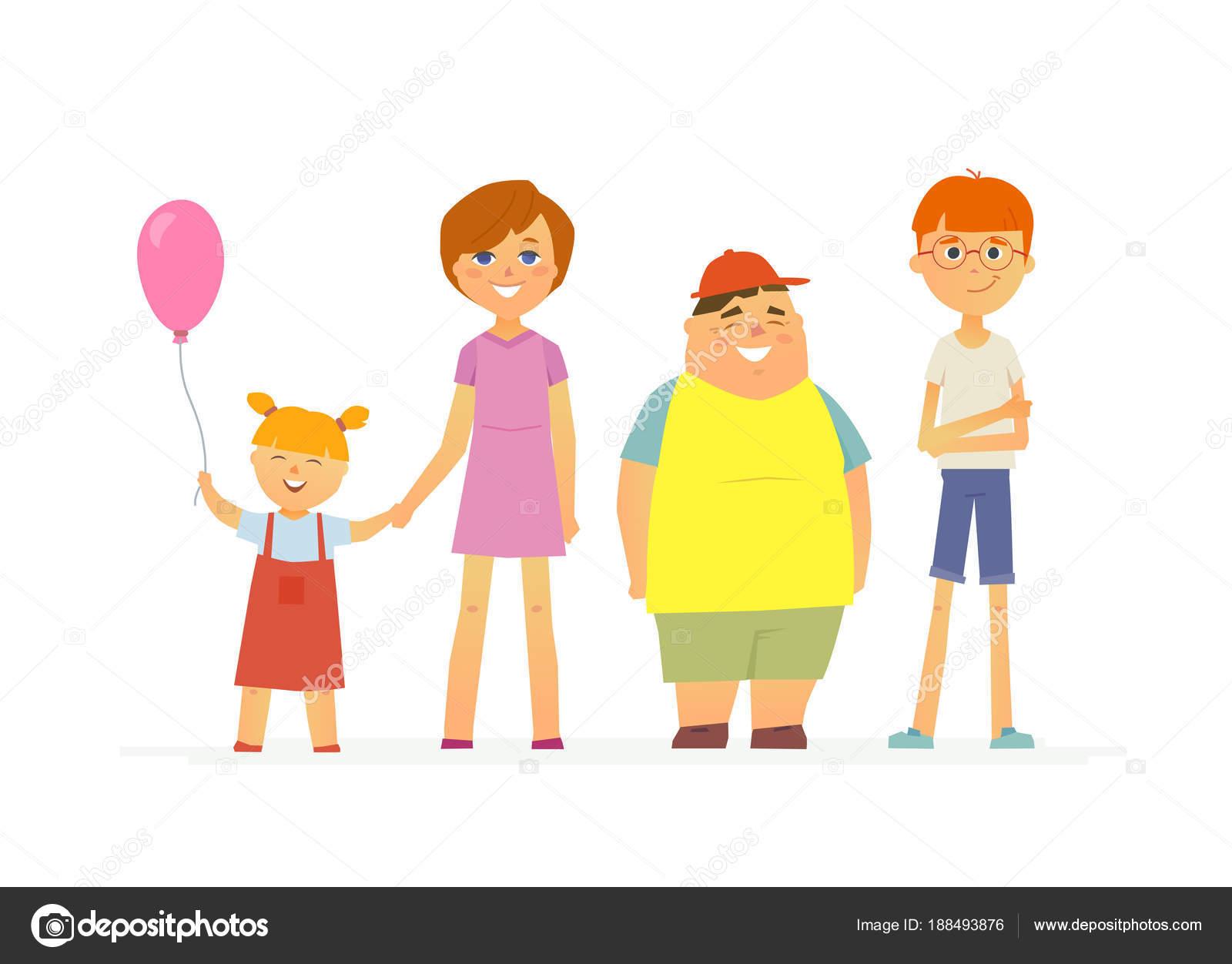 Niños Felices - Caracteres