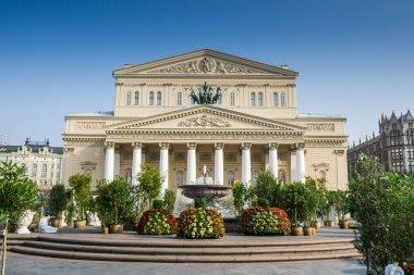 Bolshoi Theatre in the summer.