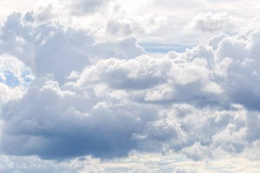 Blue sky with cloud closeup. Natural background