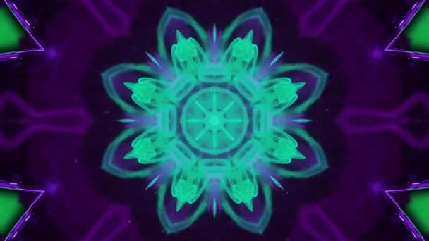 Ornament abstraktní video s částicemi