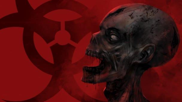 Zombie tvář Detailní.