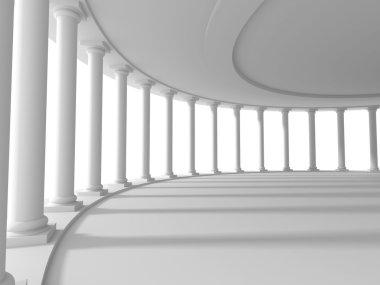 pillars columns design architecture background