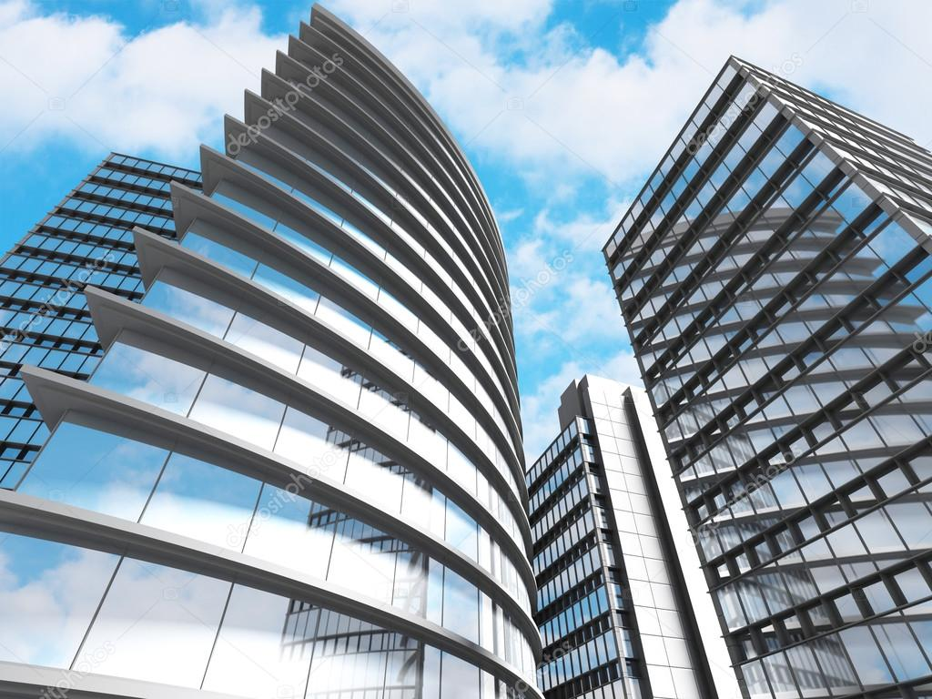 Business Skyscrapers Buildings