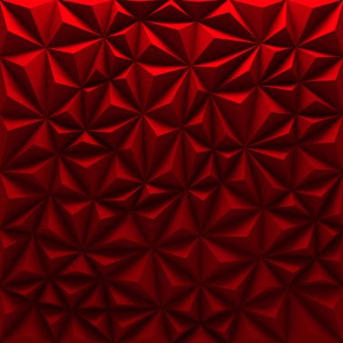 Red abstract low-poly background