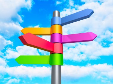 Colorful Road Direction Arrows Signs