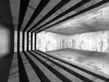Concrete Basement Room Interior