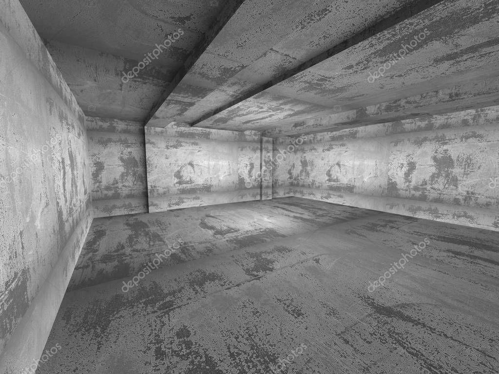 Interior del cuarto oscuro vac o concreto foto de stock for Cuarto oscuro fotografia