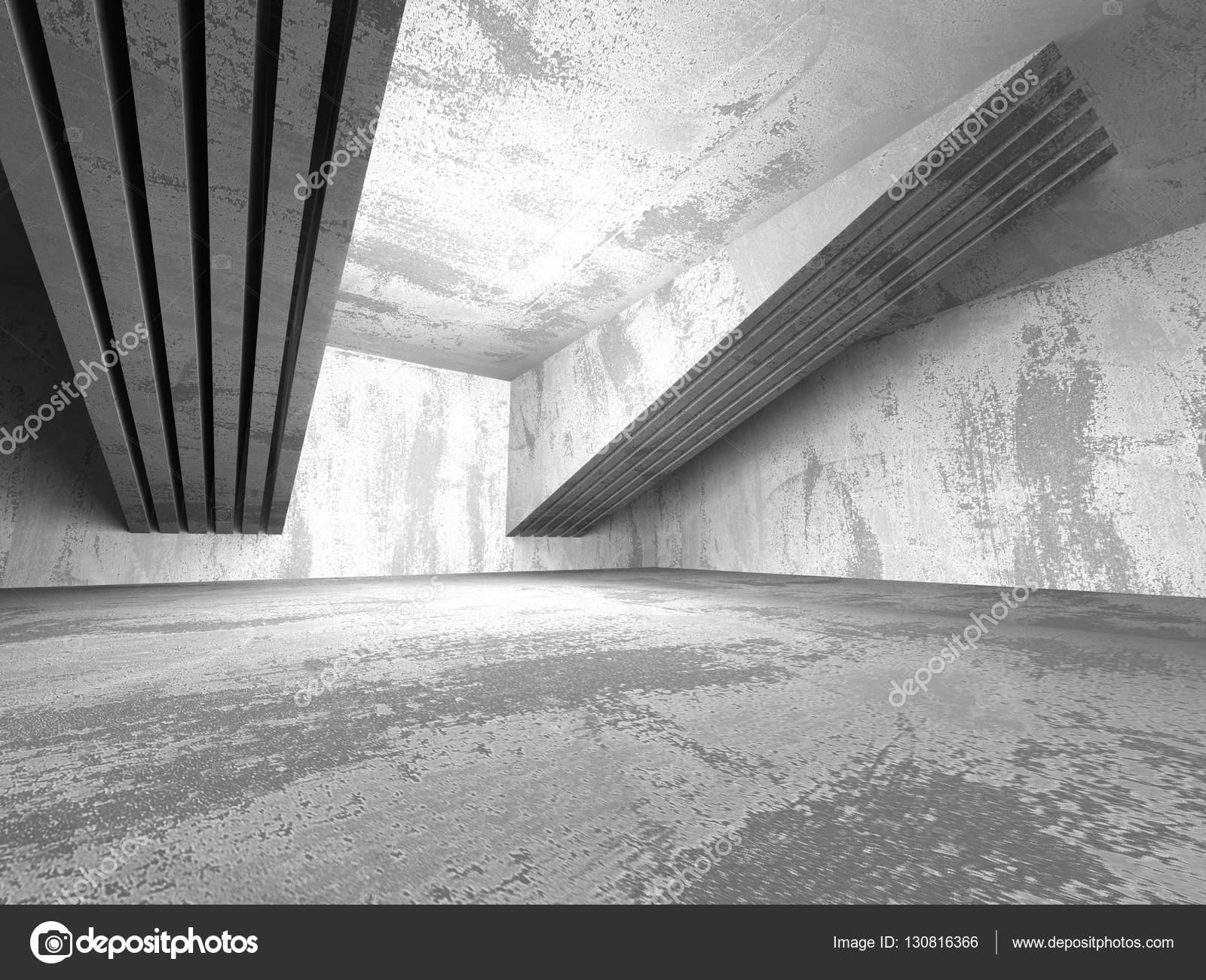 Abstrakte Dunklen Raum Mit Betonwänden Stockfoto Versusstudio