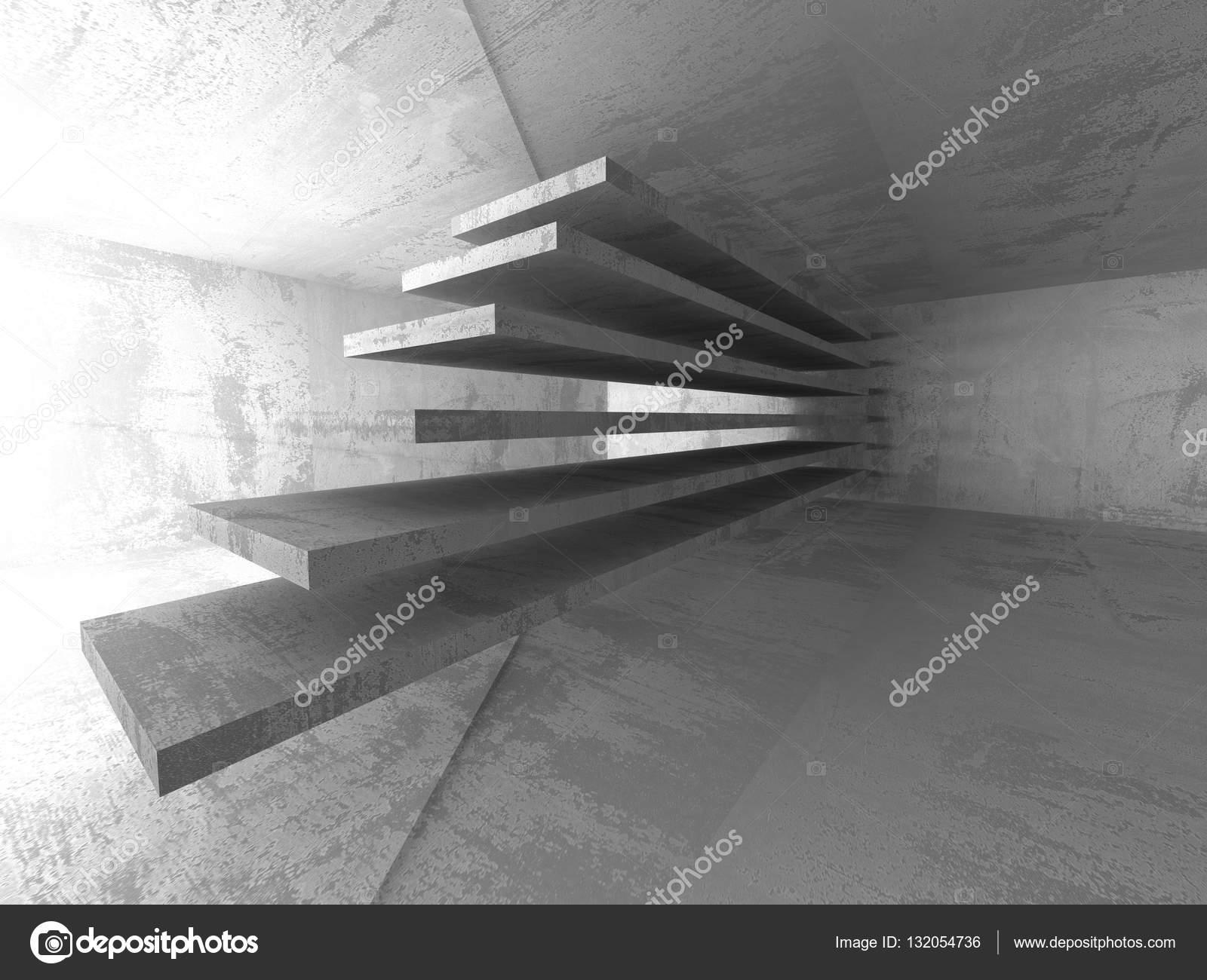 Geometrische minimalistischen Interieur des konkreten Raum ...