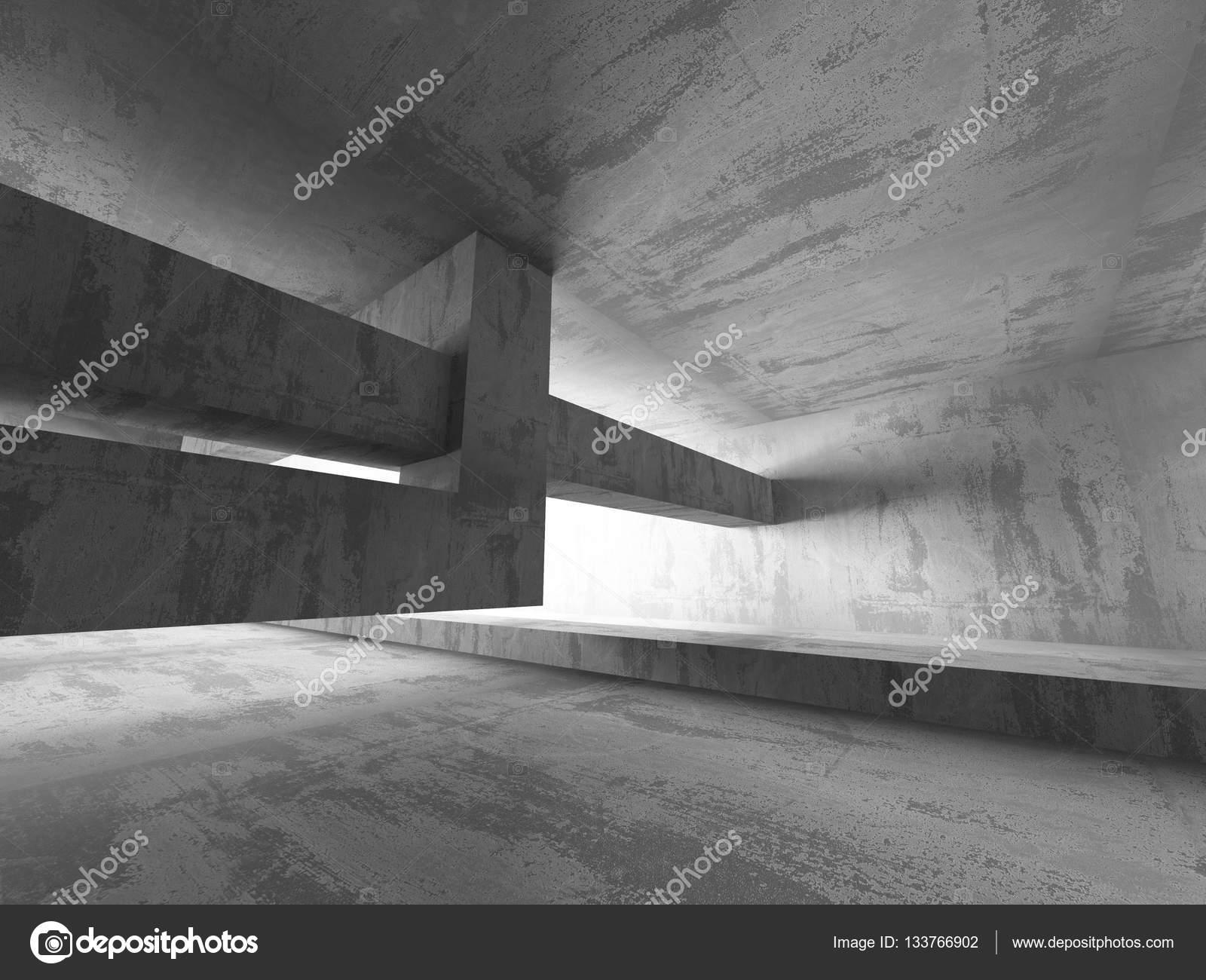 Cuarto oscuro de hormigón vacía — Fotos de Stock © VERSUSstudio ...
