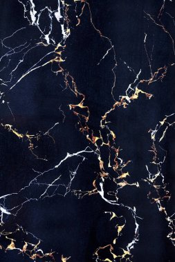 Plate of dark blue marble with cracks