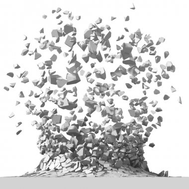 Destruction with many chaotic fragments