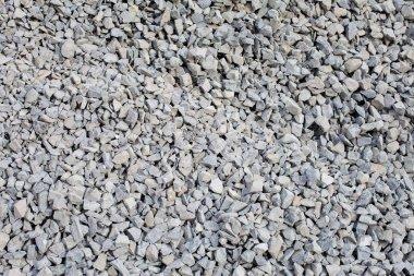 Pile of gray gravel