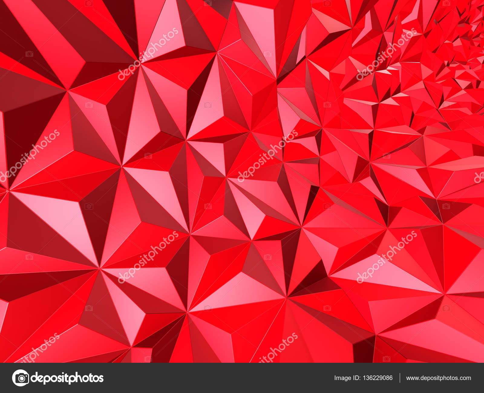 Fondo Geométrico: Fondo Geométrico Abstracto Rojo