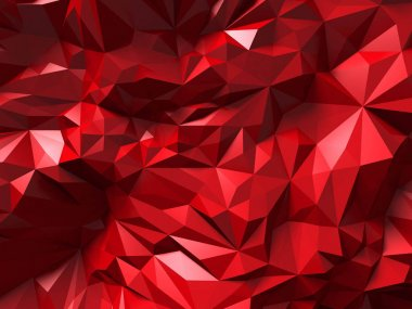 Red pattern with chaotic triangles
