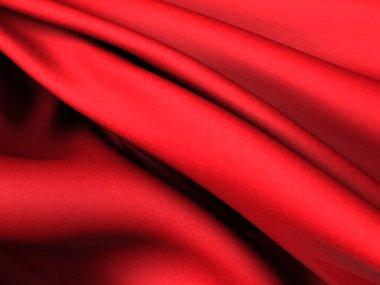 Red silk satin fabric texture