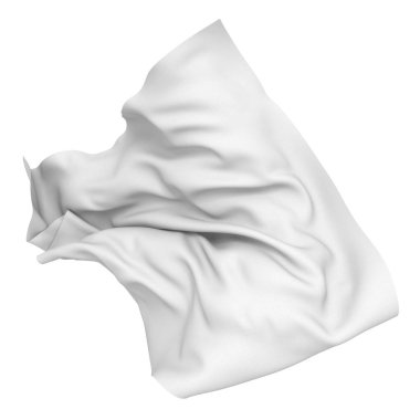 White silk satin cloth