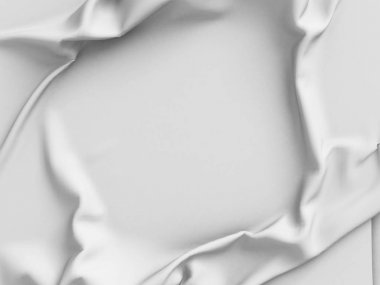 White satin cloth with folds