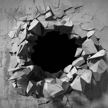 Abstract broken wall
